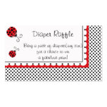 Polka Dots and Cute Ladybugs Diaper Raffle Business Card