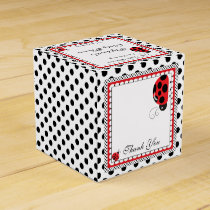 Polka Dots and Cute Ladybugs Party  Favor Box