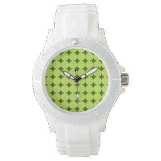 Polka Dots and Diamonds by Shirley Taylor Wristwatch
