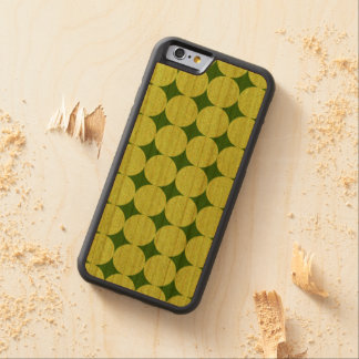 Polka Dots and Diamonds-Optical Illusion Carved Cherry iPhone 6 Bumper Case