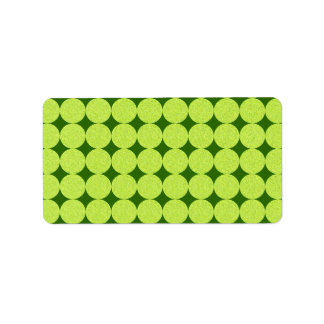 Polka Dots and Diamonds-Optical Illusion Address Label