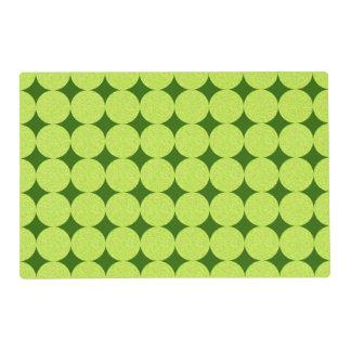 Polka Dots and Diamonds-Optical Illusion Laminated Placemat