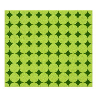 Polka Dots and Diamonds-Optical Illusion Poster