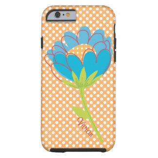 Polka Dots and Flower Custom iPhone 6 case