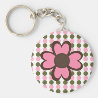 POLKA DOTS AND FLOWER Keychain