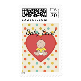 Polka Dots and Heart Gender Neutral Baby Shower Postage