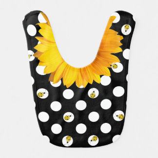Polka Dots and Ladybugs Baby Bib