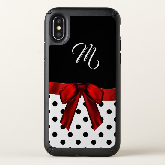 Polka Dots and Monogram iPhone X Case