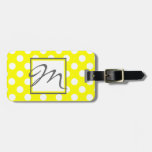 Polka Dots and Monogram Luggage Tag