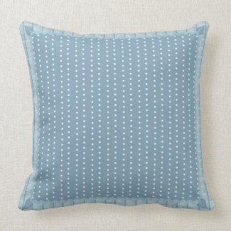 Polka Dots and Plaid Throw Pillow