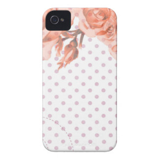 Polka Dots and Roses Case-Mate iPhone 4 Case