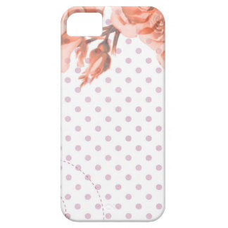 Polka Dots and Roses iPhone 5 Cases