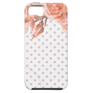 Polka Dots and Roses iPhone SE/5/5s Case
