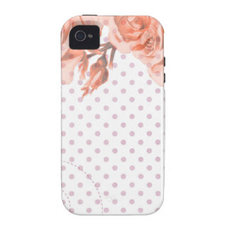 Polka Dots and Roses Vibe iPhone 4 Case