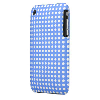 polka dots and sky blue color iPhone 3 cover