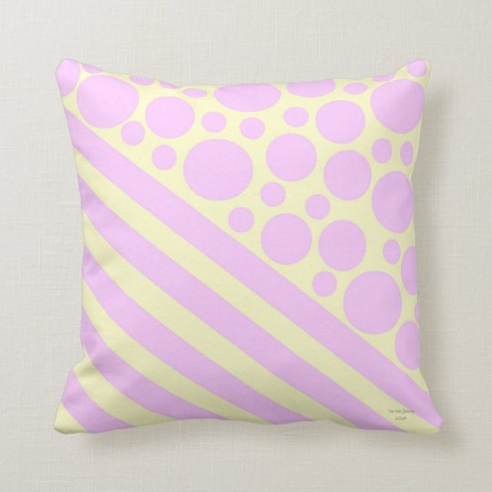 Polka Dots and Stripes 2 Throw Pillow