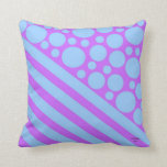 Polka Dots and Stripes 4 Throw Pillows