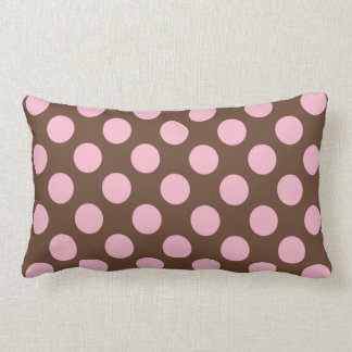 Polka dots and stripes throw pillow