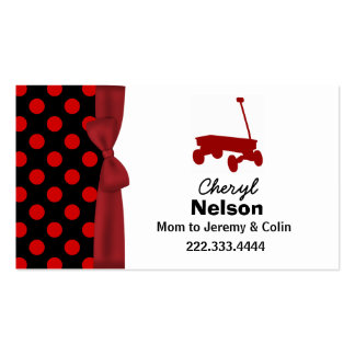 Polka Dots and Wagon Mommy Card Business Card