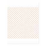 Polka Dots - Apricot on White Postcard