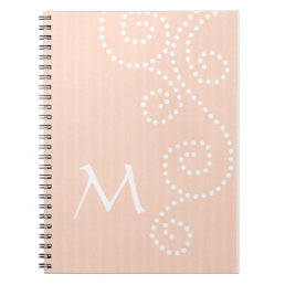 Polka Dots Art Monogrammed Notebook