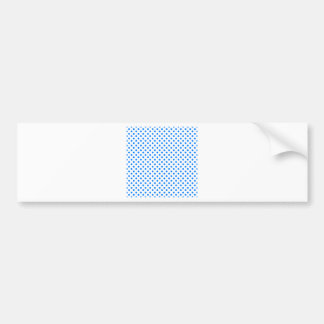 Polka Dots - Azure on White Bumper Sticker