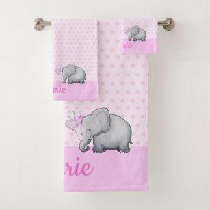 Cartoon Baby Elephant Bathroom Accessories Zazzle
