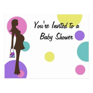 Polka Dots Baby Shower Invitation Postcards