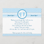 "Polka Dots Baby Shower Thank You Card Blue Boy<br><div class=""desc"">This polka dots thank you card is a perfect way to say thank you to your guests. You are able to personalize it with your details. Have fun!!</div>"