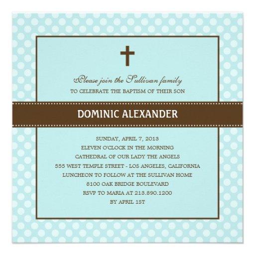 Polka Dots Baptism/Christening Invitation