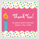 Polka Dots Birthday Thank You Party Favor Gift Sticker