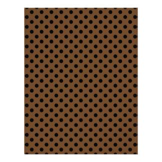 Polka Dots - Black on Brown Nose Letterhead