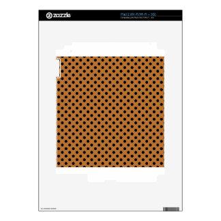 Polka Dots - Black on Copper Skin For iPad 2