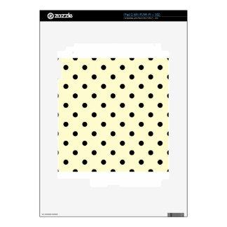 Polka Dots - Black on Cream iPad 2 Decals