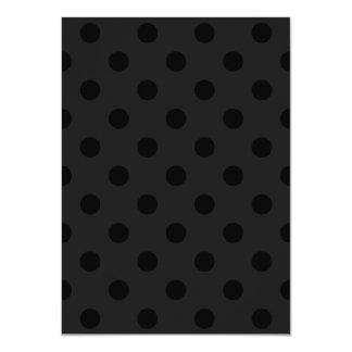 Polka Dots - Black on Dark Gray Card