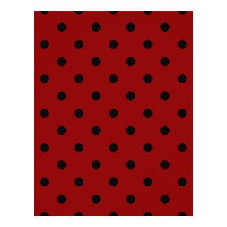 Polka Dots - Black on Dark Red Letterhead