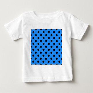 Polka Dots - Black on Dodger Blue Baby T-Shirt