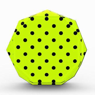Polka Dots - Black on Fluorescent Yellow Award
