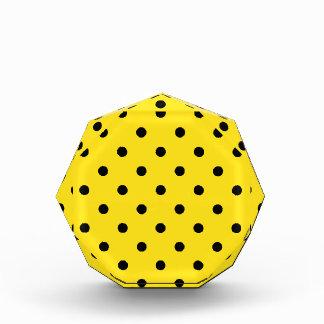 Polka Dots - Black on Golden Yellow Award
