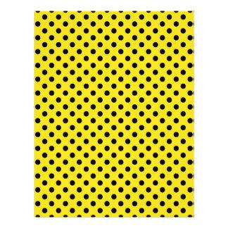 Polka Dots - Black on Golden Yellow Letterhead