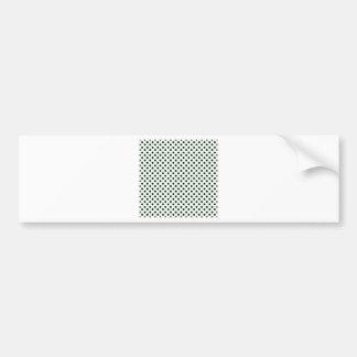 Polka Dots - Black on Honeydew Car Bumper Sticker