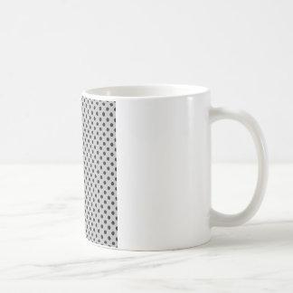 Polka Dots - Black on Light Gray Coffee Mug