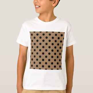 Polka Dots - Black on Pale Brown T-Shirt
