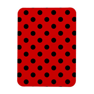 Polka Dots - Black on Rosso Corsa Magnet