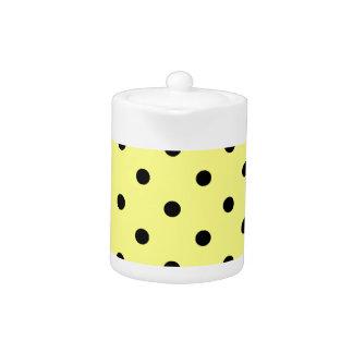 Polka Dots - Black on Yellow
