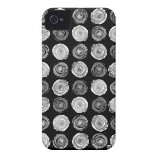 Polka Dots Black Spin iPhone 4 Case-Mate Case