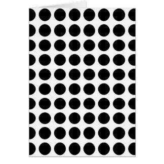 Polka dots - Black & White Card