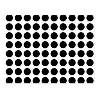 Polka dots - Black & White Postcard