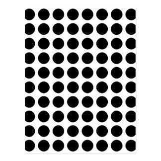 Polka dots - Black & White Postcard