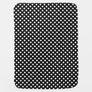 Polka Dots Black/White Reversible Baby Blanket